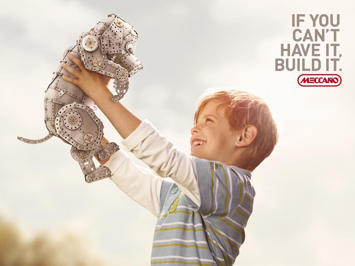 Meccano Print Ad -  Dog