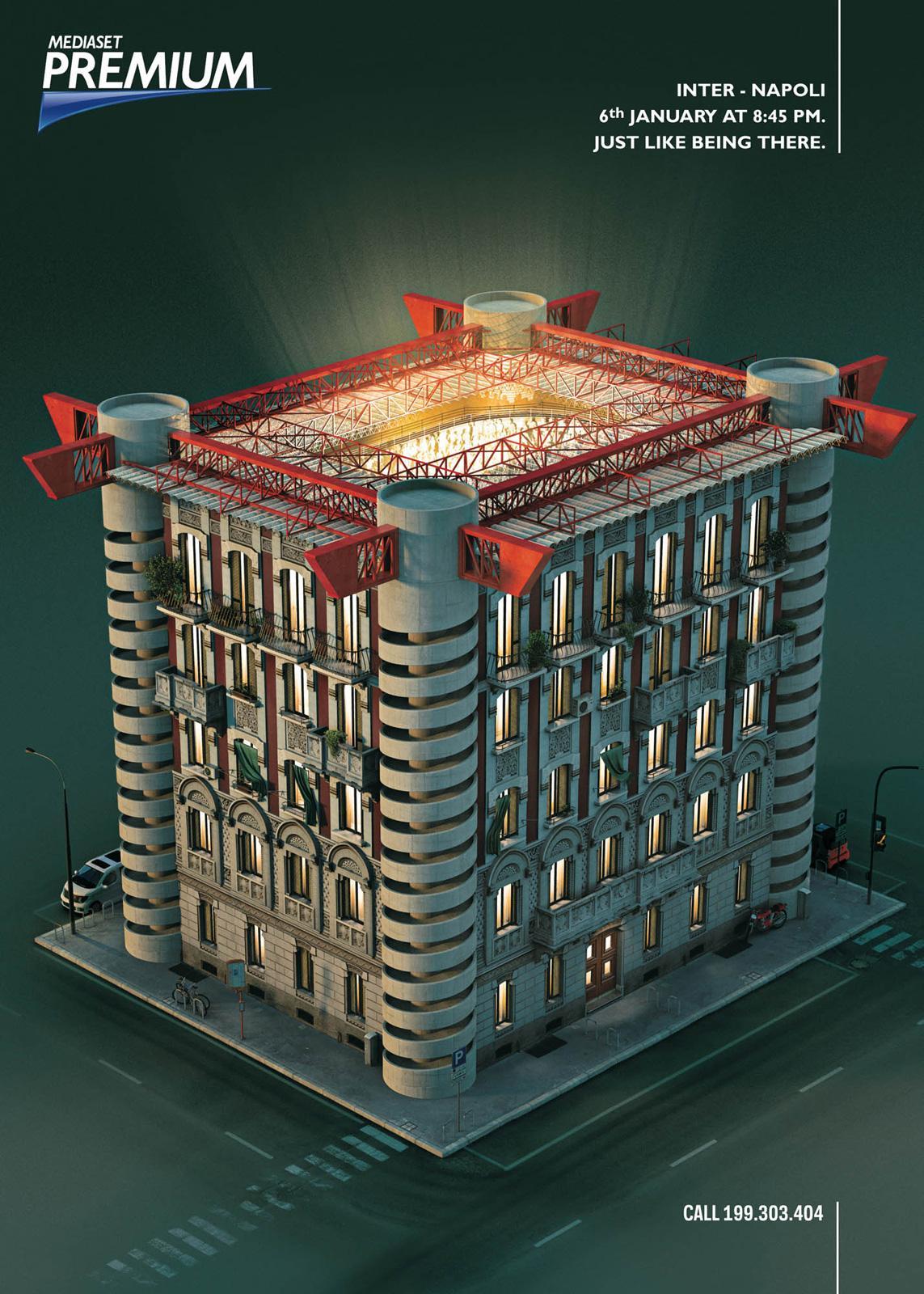 Mediaset Premium Print Ad -  Stadium, 3