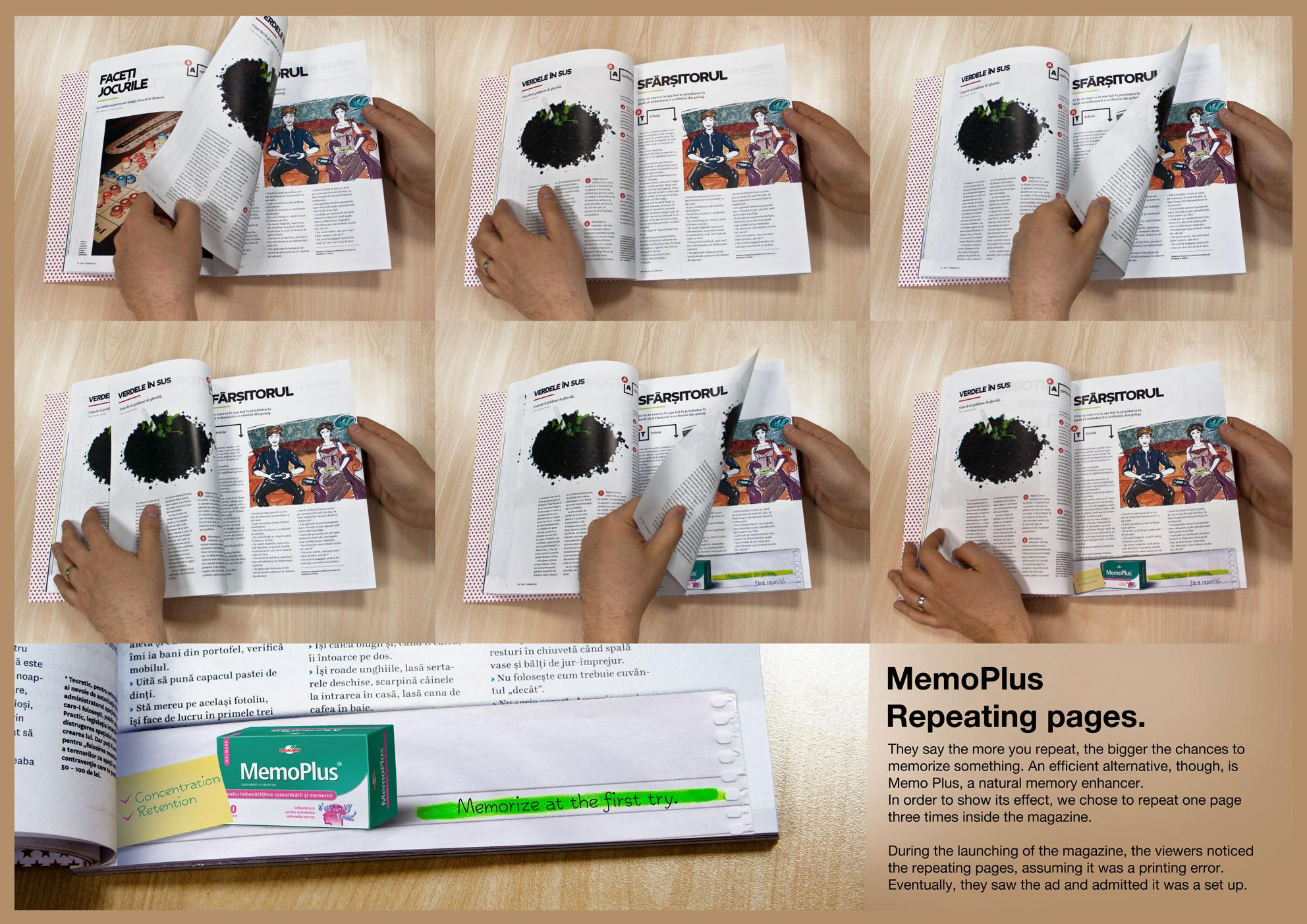 MemoPlus Print Ad -  Repeating pages