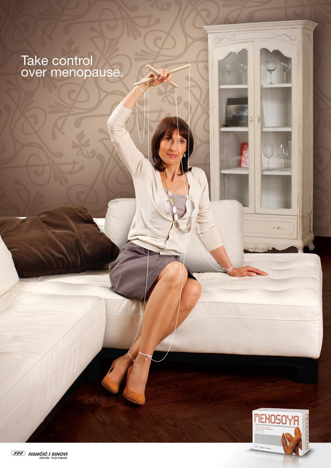 Menosoya Print Ad -  Take control