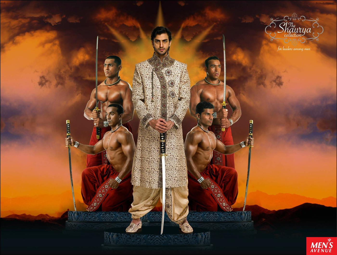 Men's Avenue Print Ad -  The Shaurya Collection, 1
