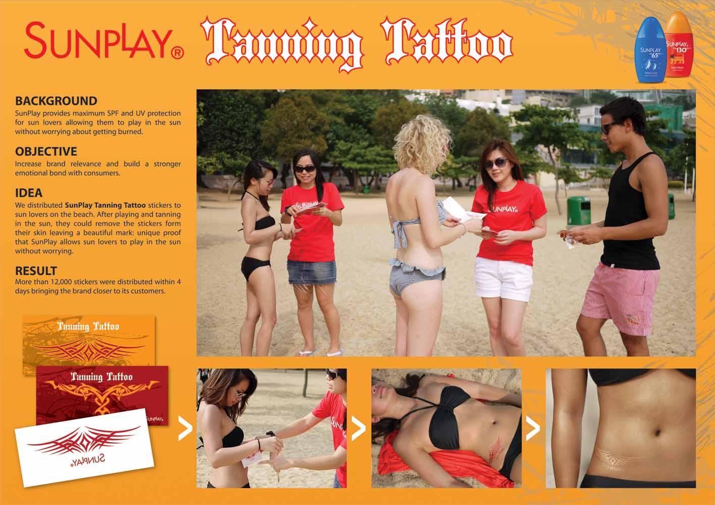 Sunplay Direct Ad -  Tanning Tattoo