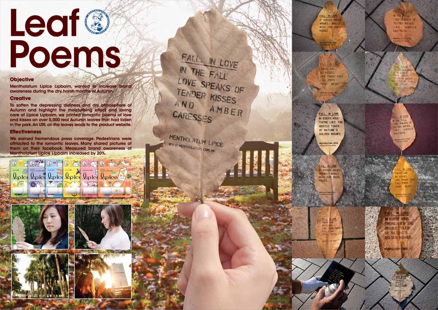 Mentholatum Ambient Ad -  Leaf Poems