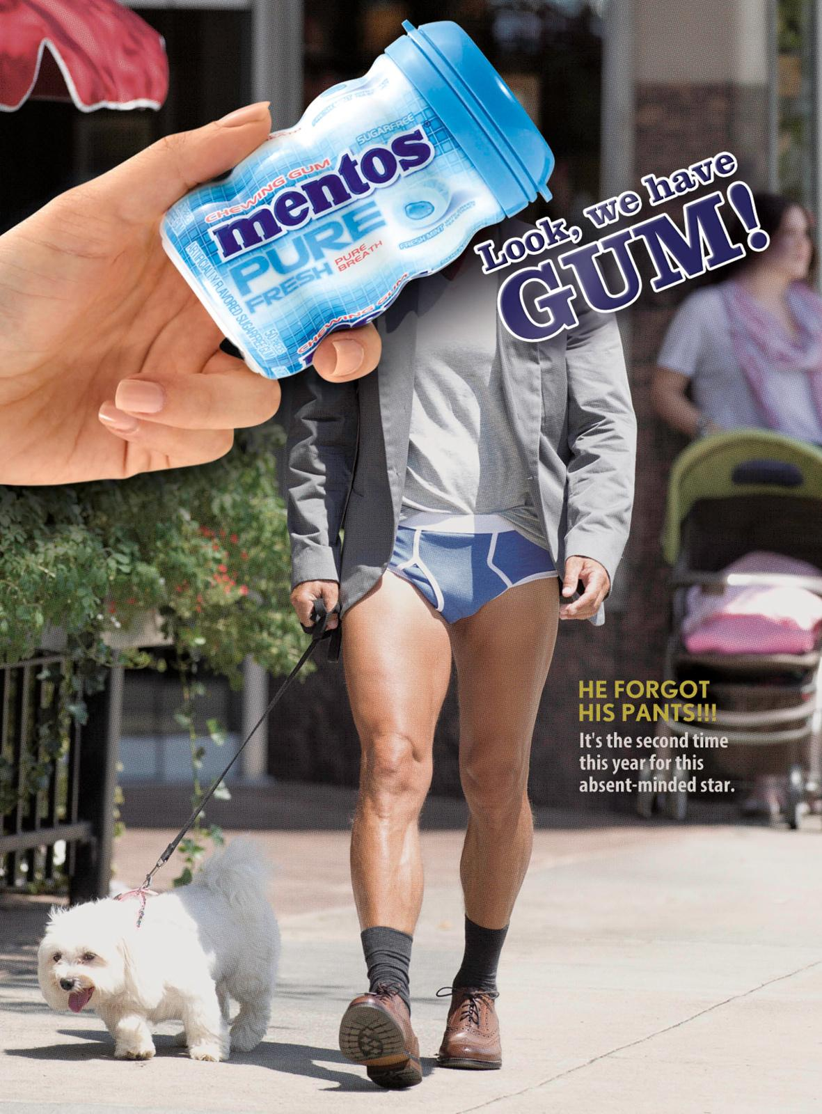 Mentos Print Ad -  Pants