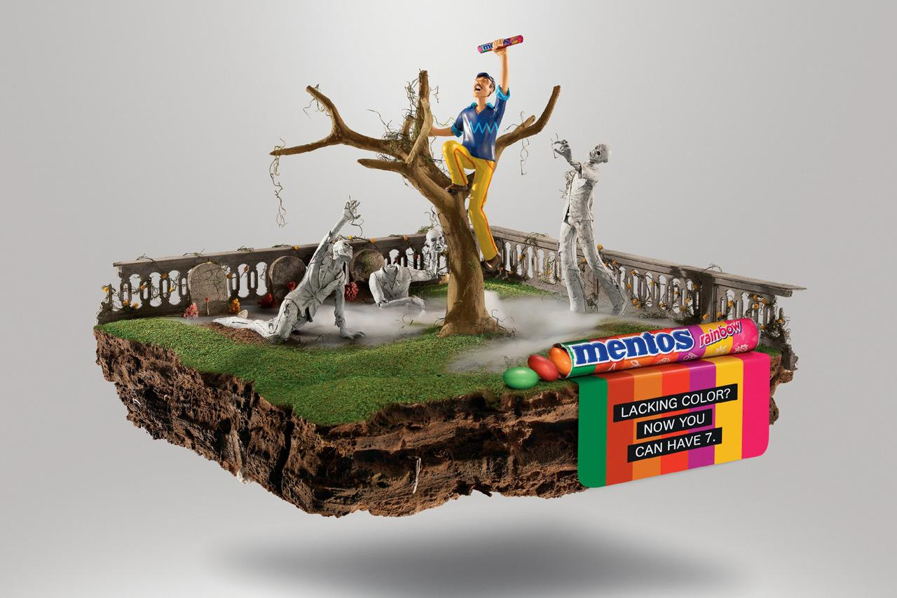 Mentos Print Ad -  Zombies