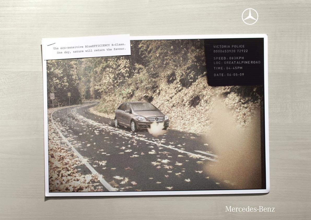 Mercedes Print Ad -  Leaf