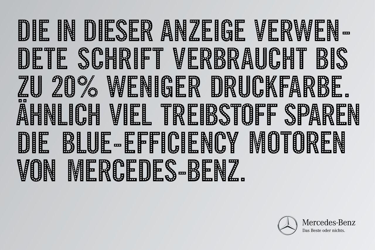 Mercedes Print Ad -  20% less