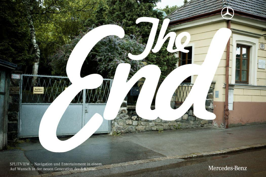 Mercedes Print Ad -  The End