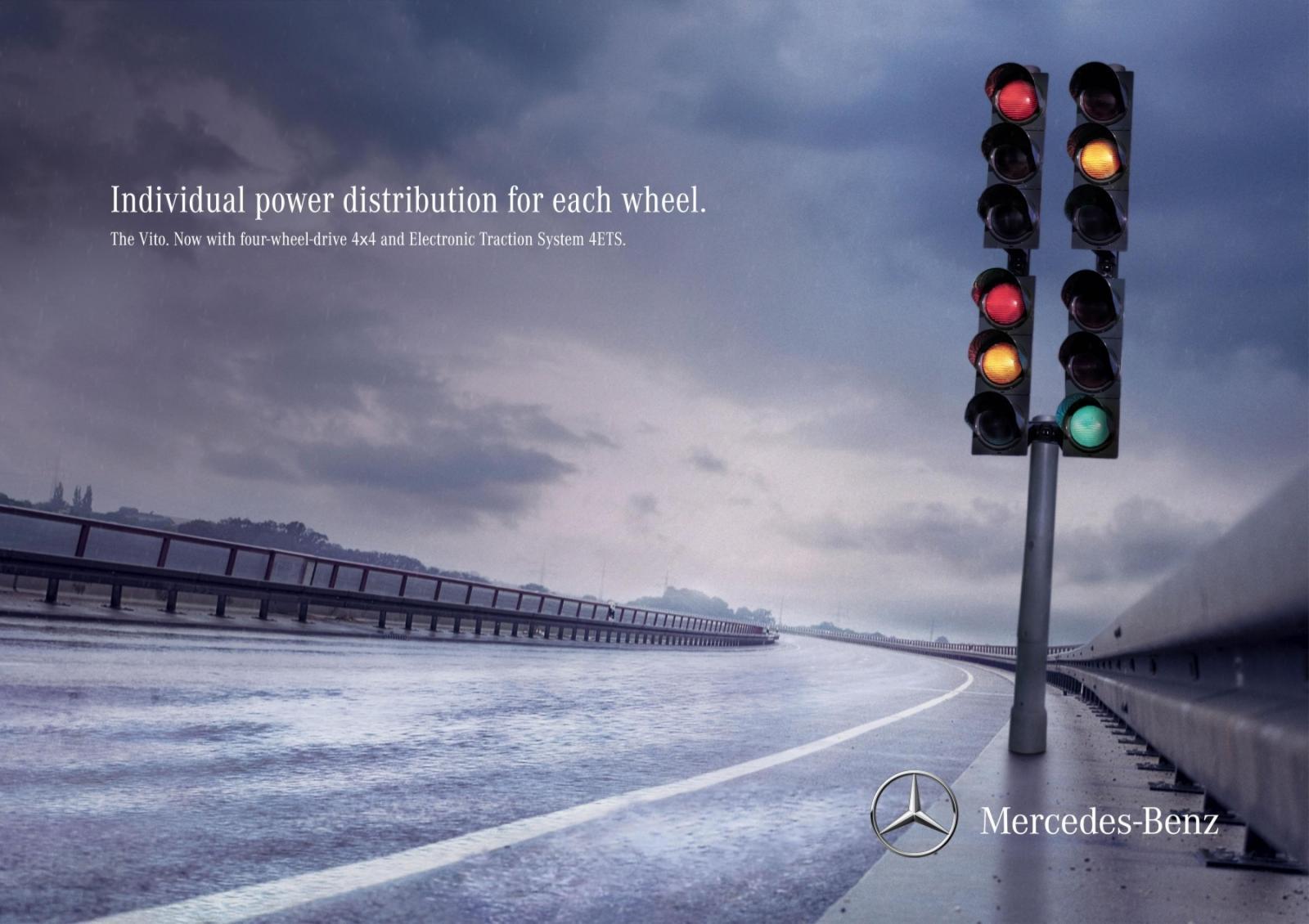 Mercedes Print Ad -  Traffic Light