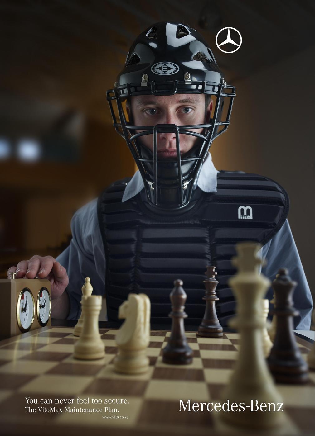 Mercedes Print Ad -  Chess
