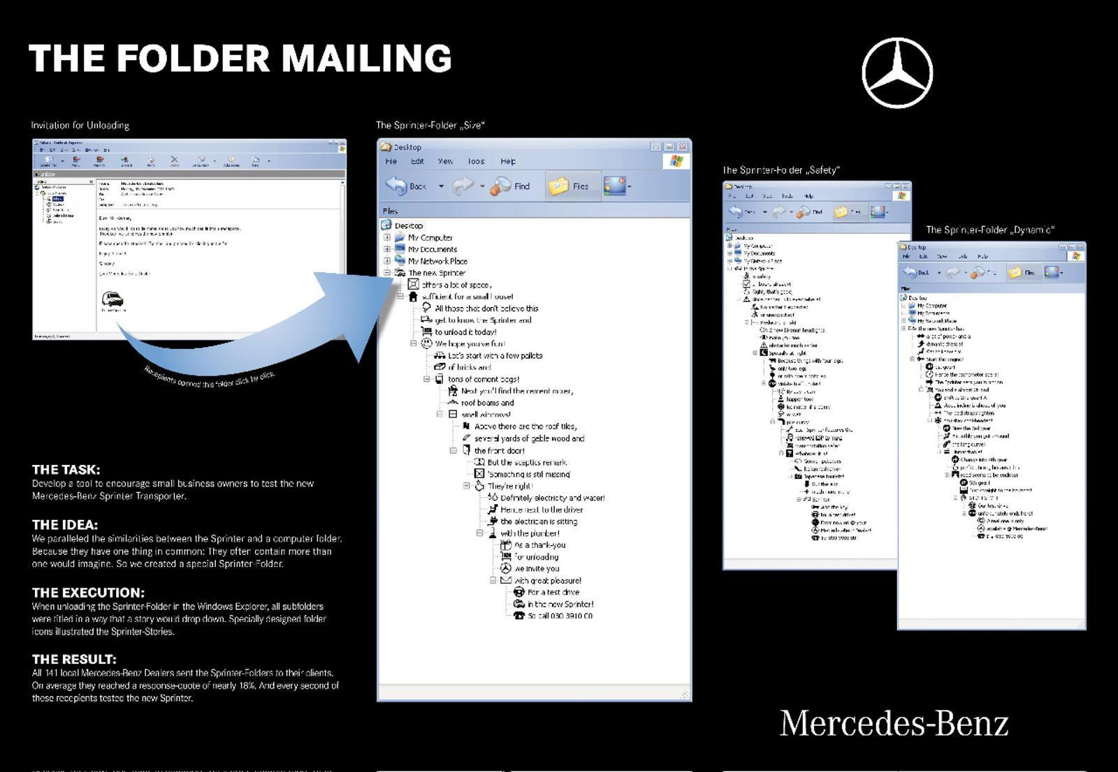 Mercedes Direct Ad -  Folder mailing