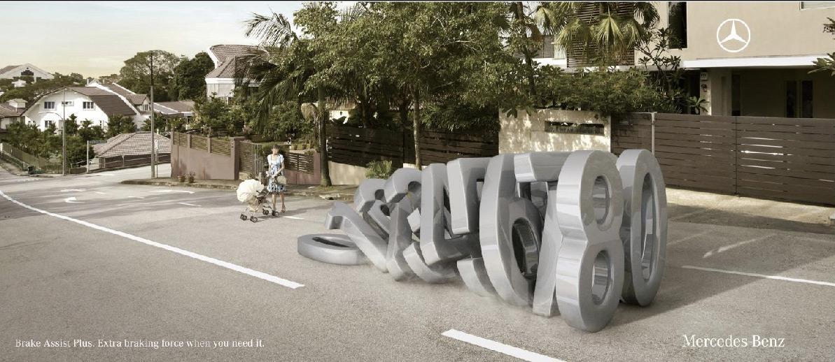 Mercedes Print Ad -  Pram