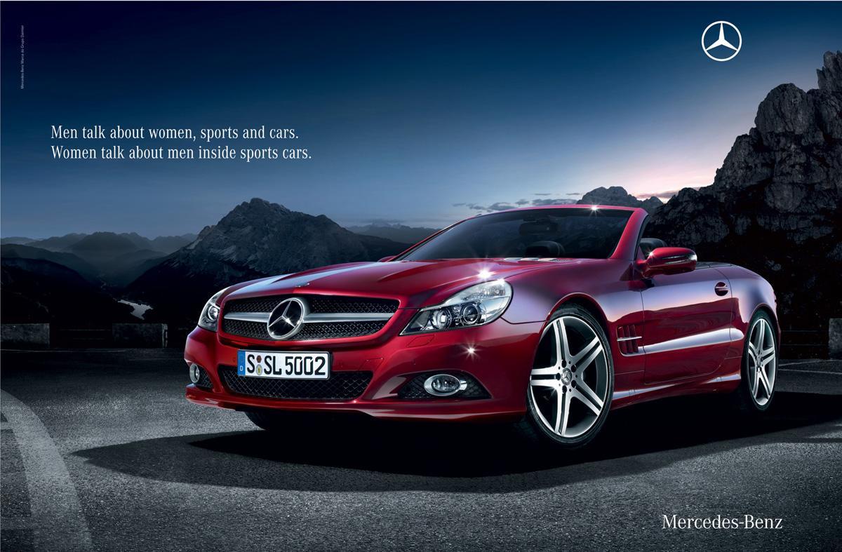 Mercedes Print Ad   Talk