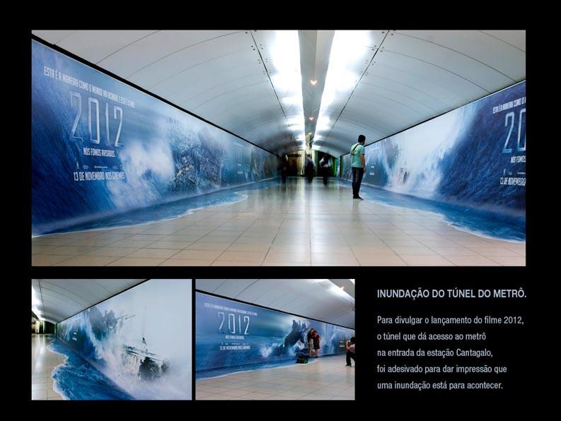 2012 The Movie Outdoor Ad -  Flooding the subway