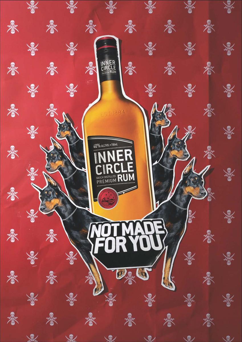 Inner Circle Rum Print Ad -  Dog
