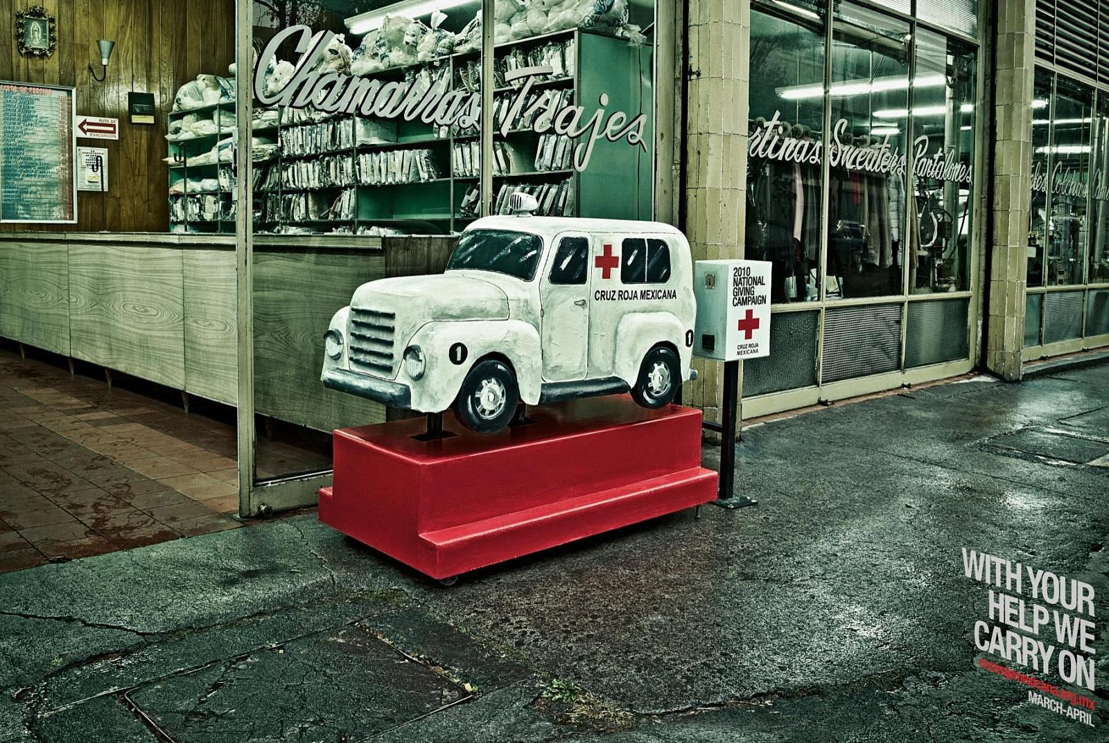 Red Cross Print Ad -  Ambulance