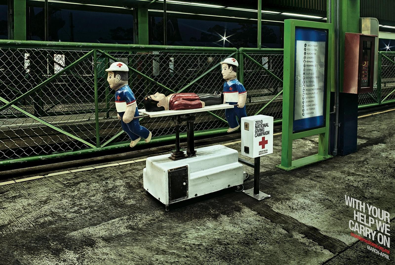 Red Cross Print Ad -  Stretcher