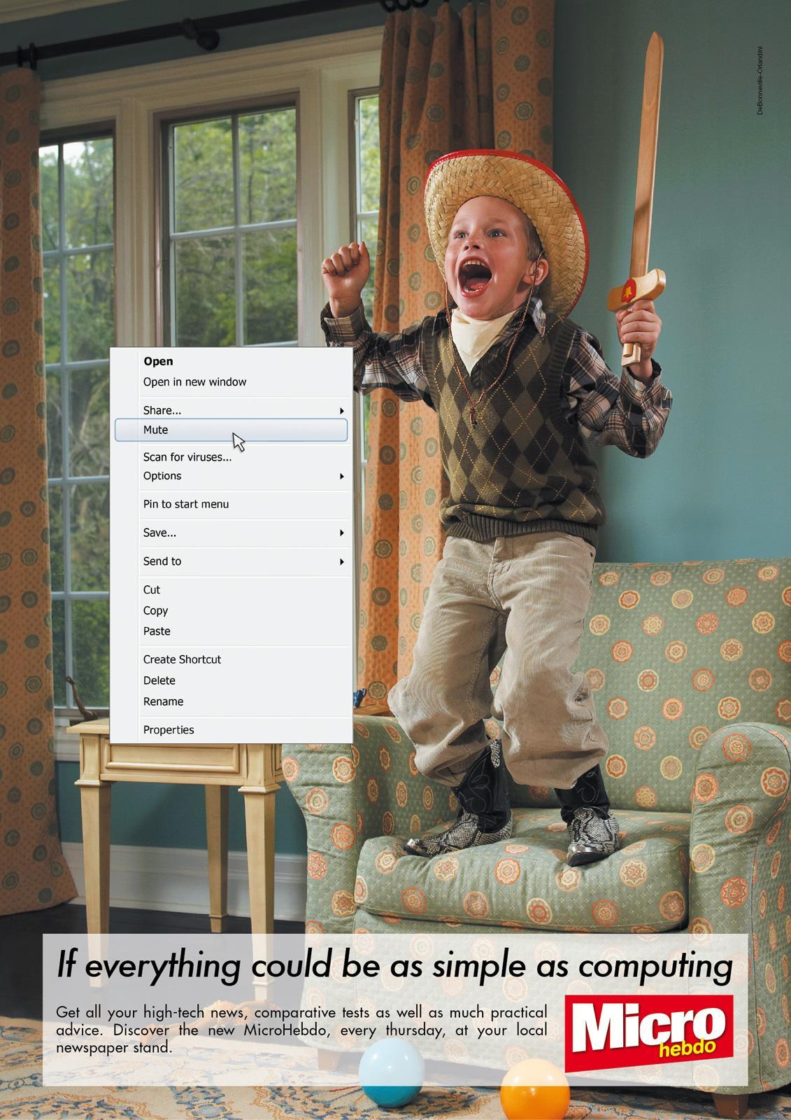 Micro Hebdo Print Ad -  Mute
