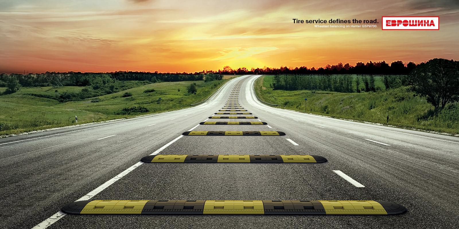 Euroshina Print Ad -  The Speed Bump