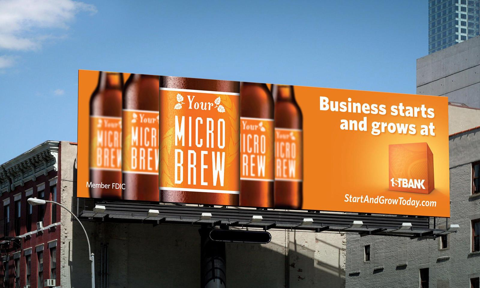 FirstBank Outdoor Ad -  Micro Brew