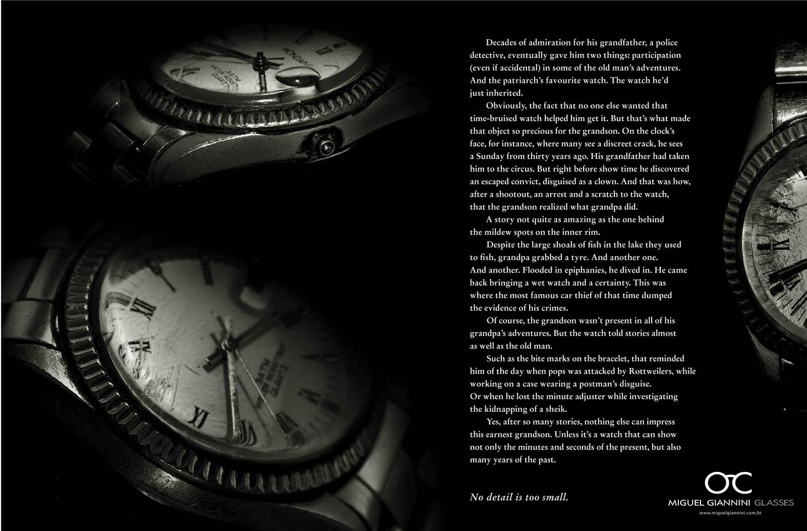 Miguel Gianinni Print Ad -  Details, Watch