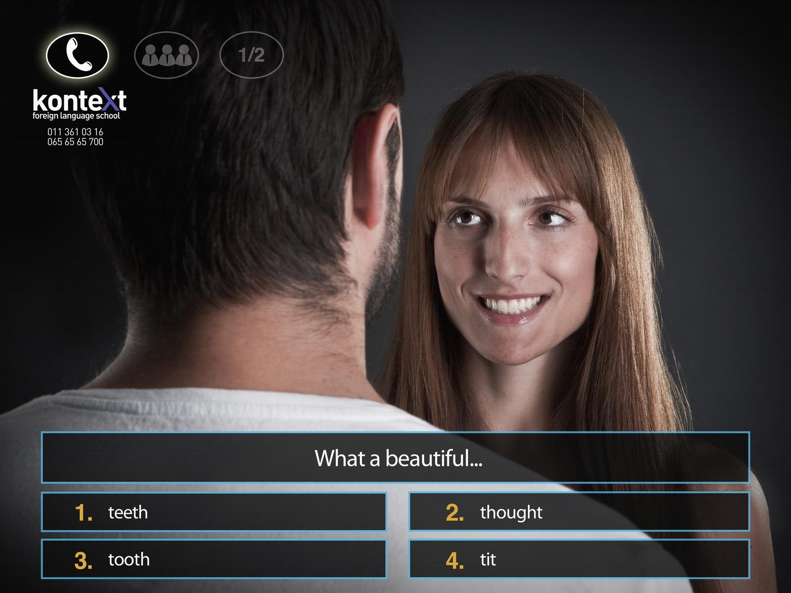 Kontext Print Ad -  Million dollar question - Smile