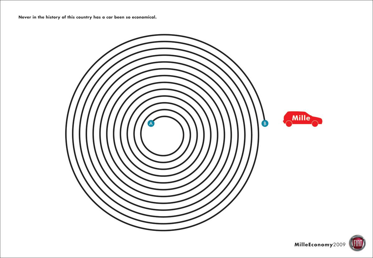 Fiat Print Ad -  Circle