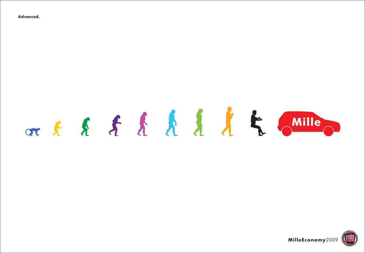 Fiat Print Ad -  Evolution
