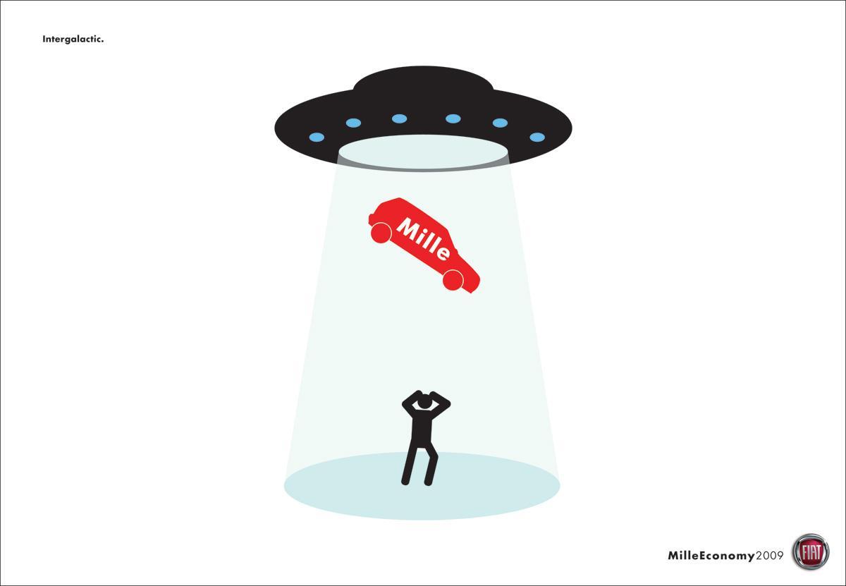 Fiat Print Ad -  UFO