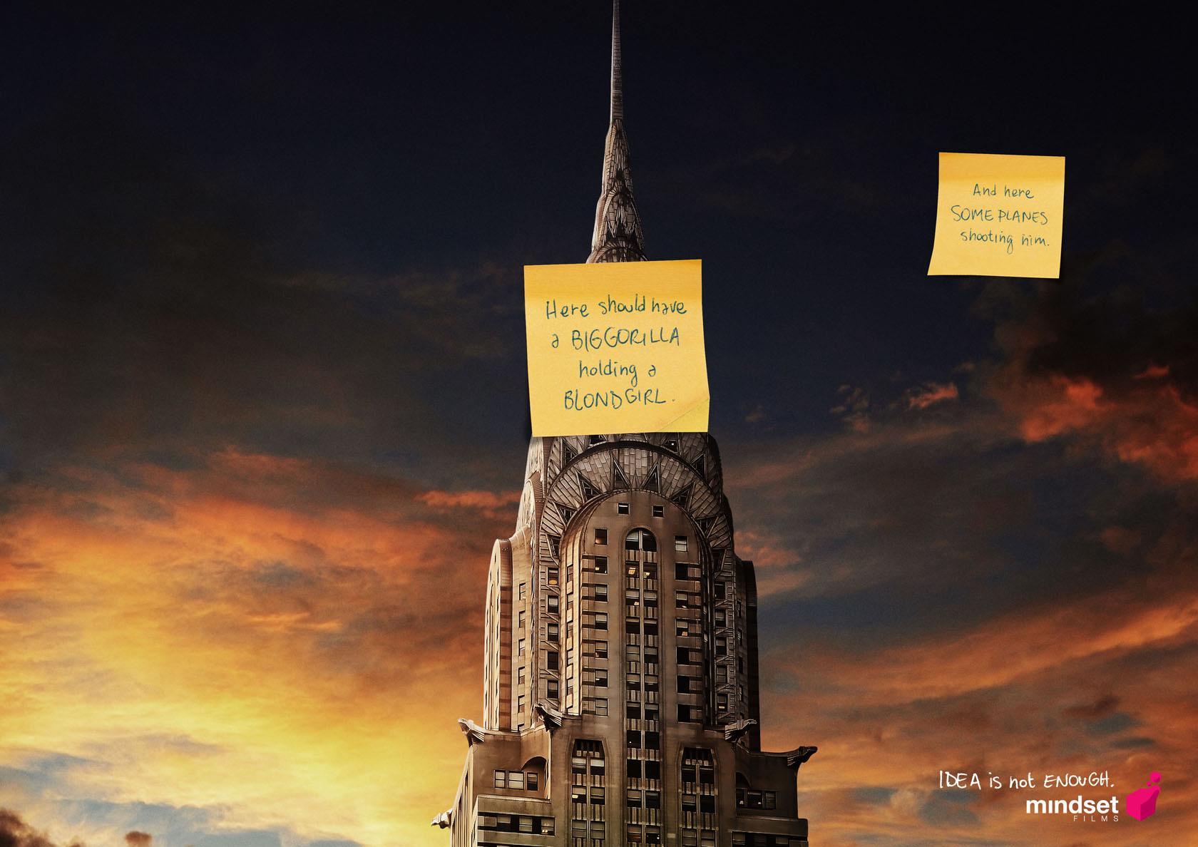 Mindset Films Print Ad -  King Kong