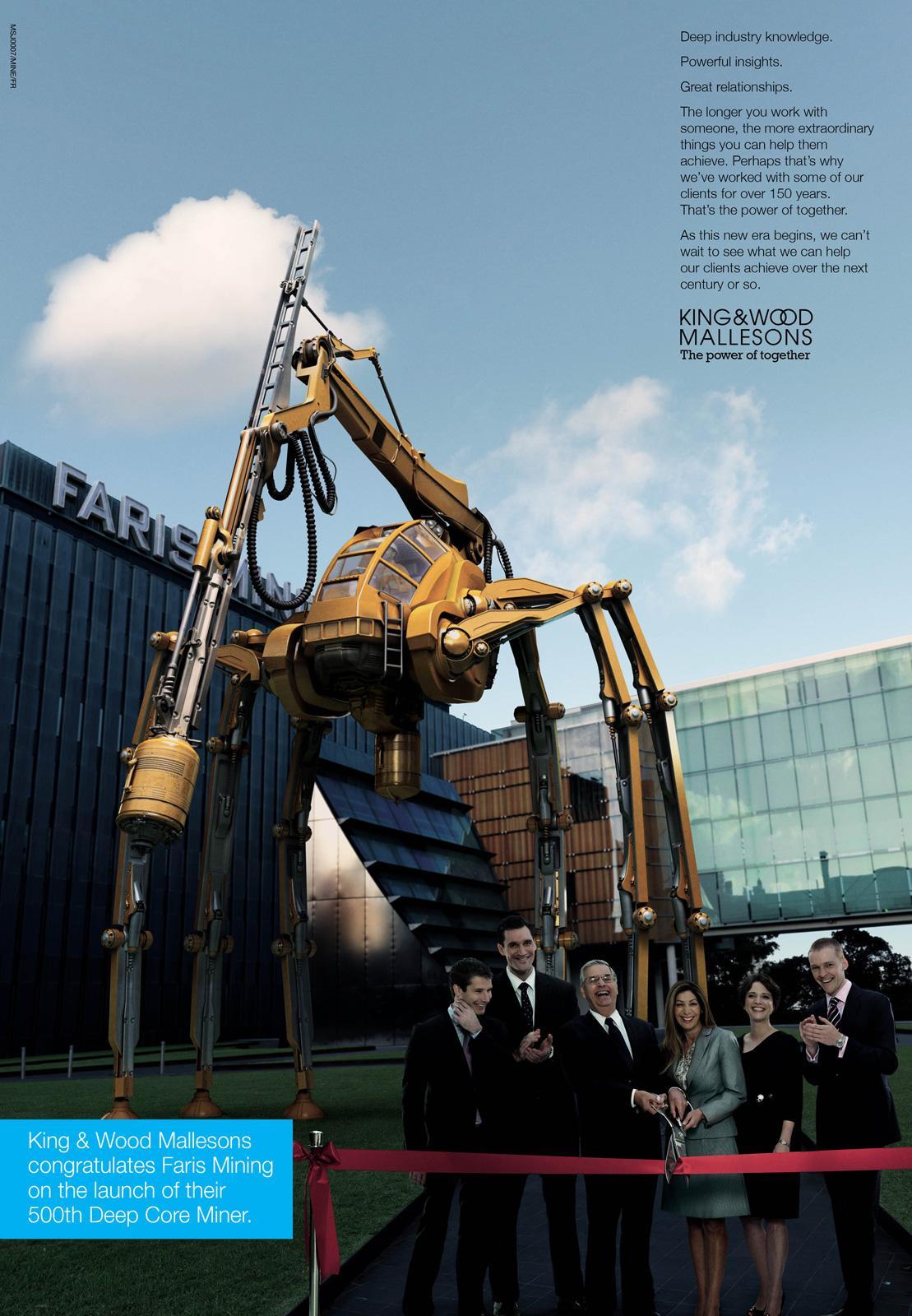 King & Wood Mallesons Print Ad -  Mine