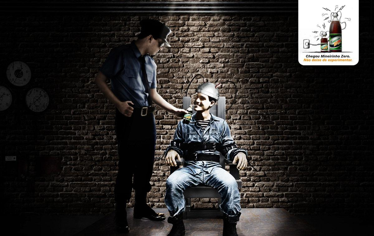 Mineirinho Zero Print Ad -  Electric chair