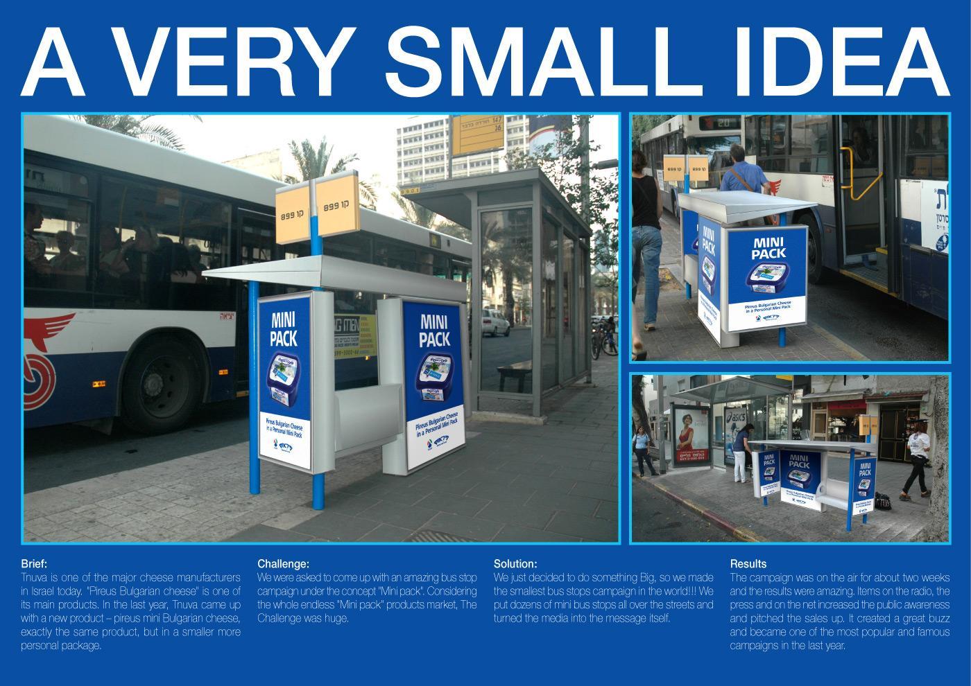 Tnuva Ambient Ad -  Mini Bus Stop