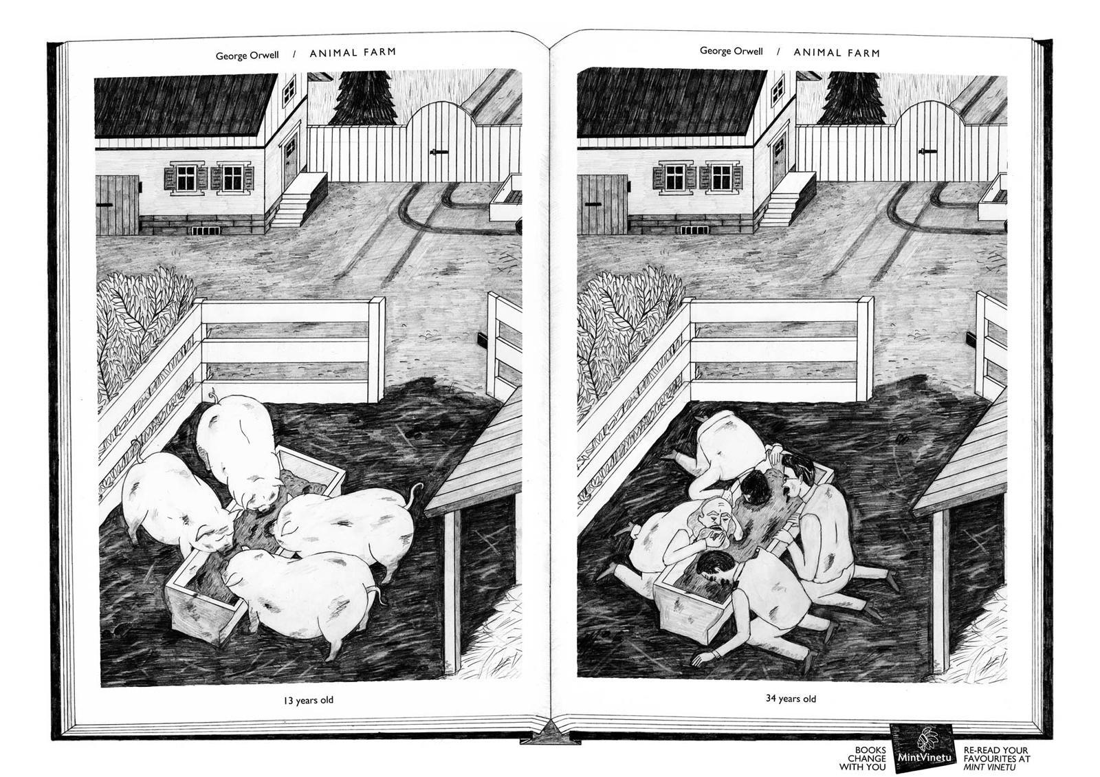 Mint Vinetu Print Ad -  Books Change With You, Animal Farm
