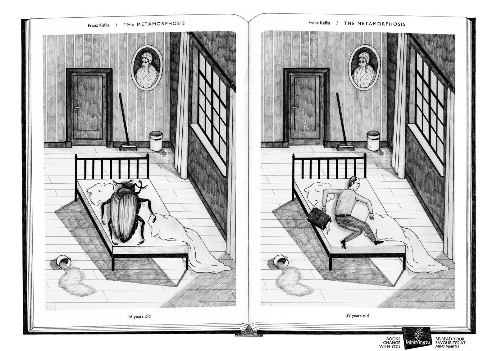 Mint Vinetu Print Ad -  Books Change With You, The Methamorphosis