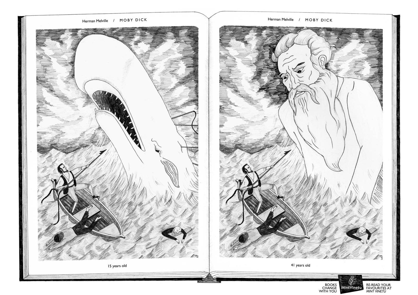 Mint Vinetu Print Ad -  Books Change With You, Moby Dick