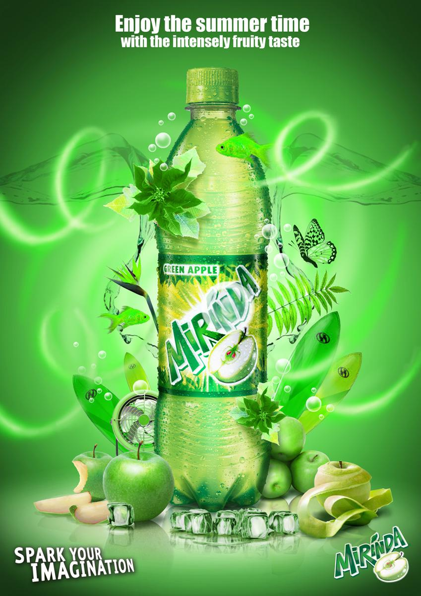 Mirinda Print Ad -  Green apple