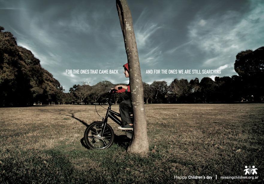 Missing Children Print Ad -  Tree