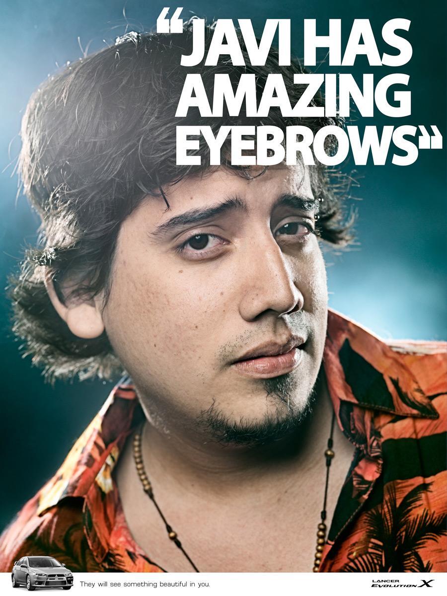 Mitsubishi Print Ad -  Eyebrows