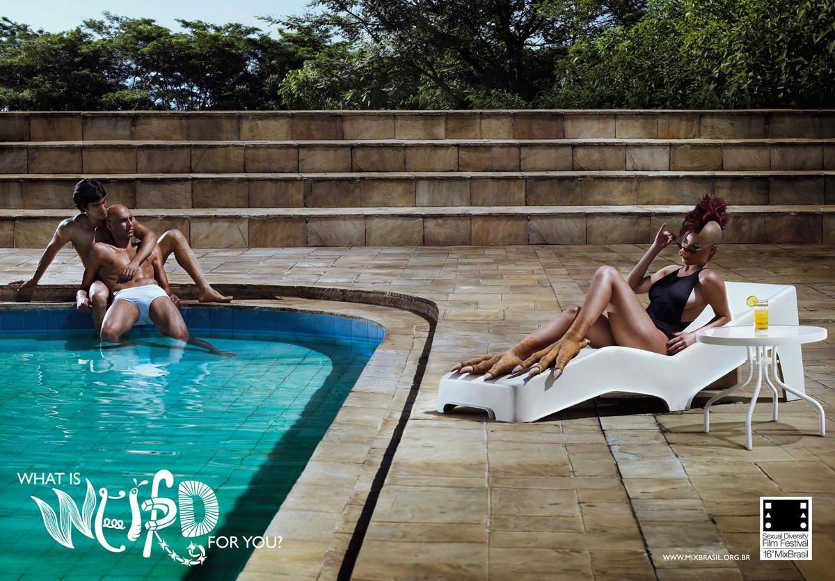 Mix Brasil Print Ad -  Swimming pool