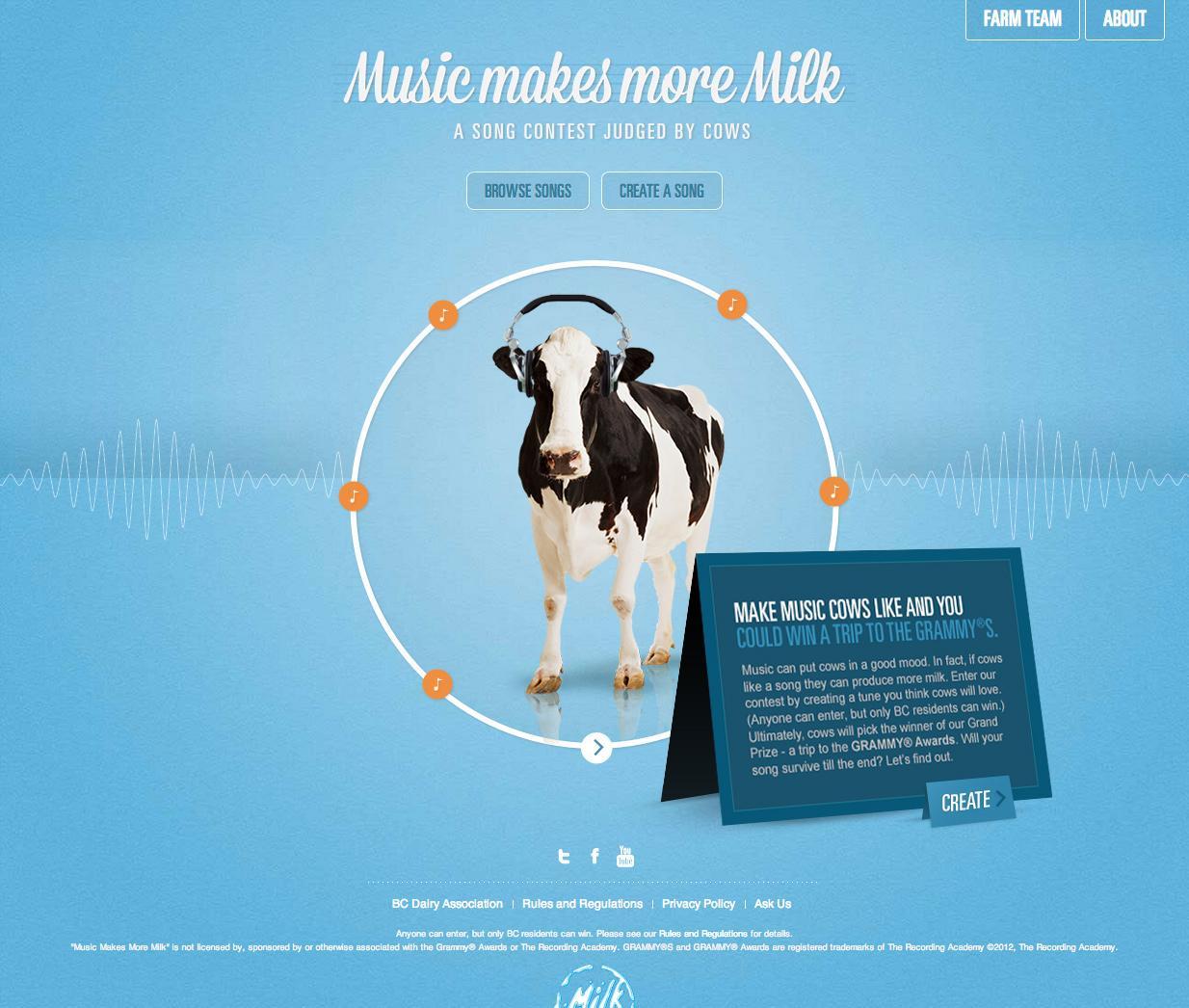 BC Dairy Digital Ad -  Music makes more milk