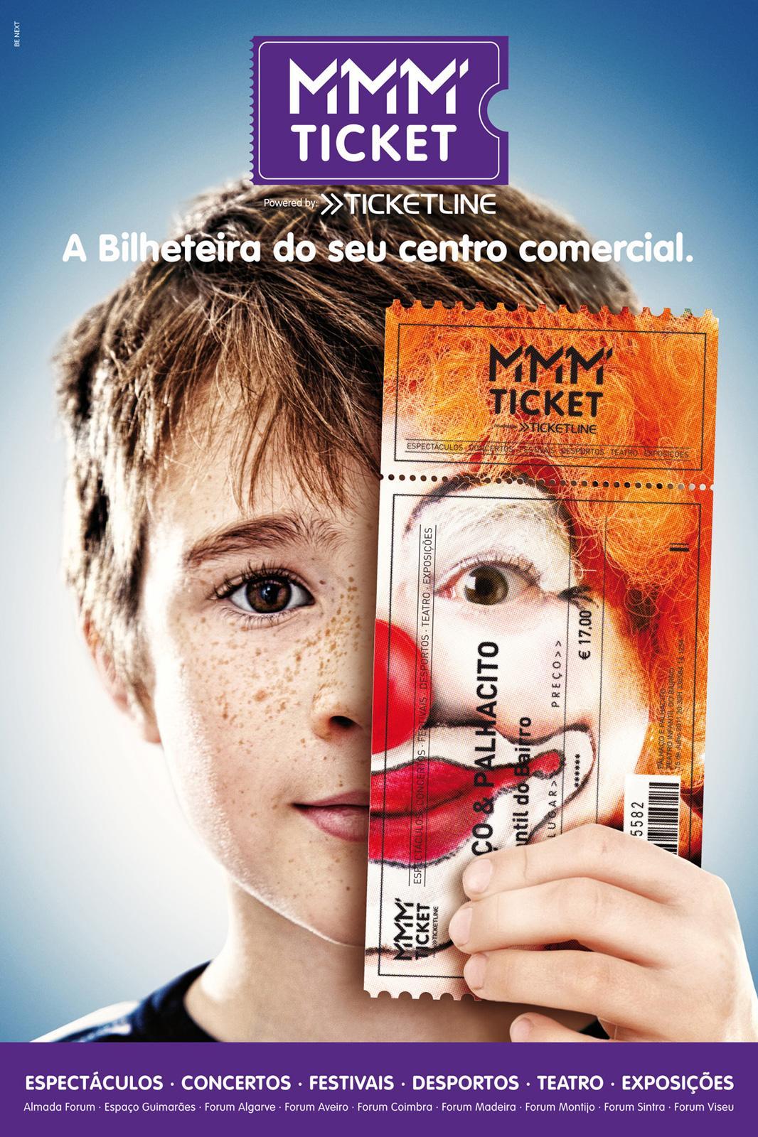 MMM Ticket Print Ad -  Clown