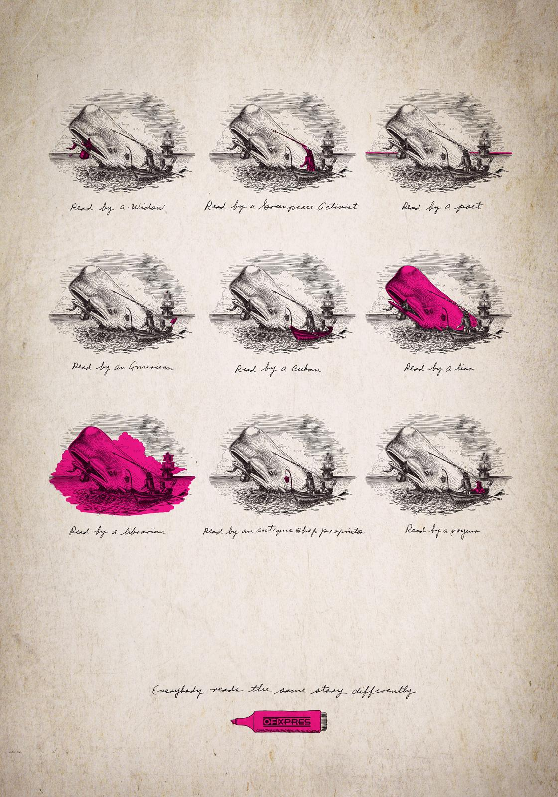Ofixpres Print Ad -  Moby Dick