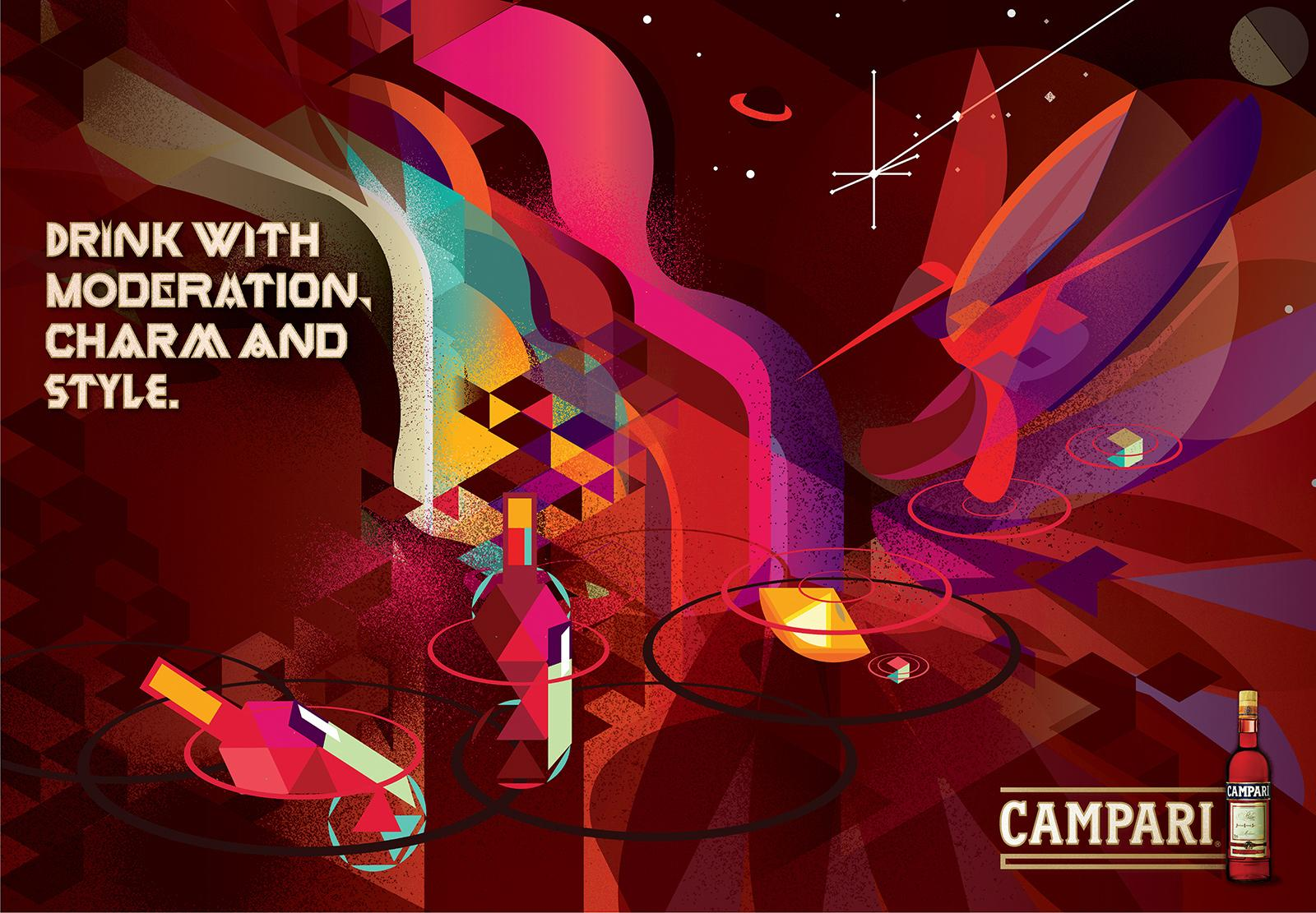 Campari Outdoor Ad -  Moderation