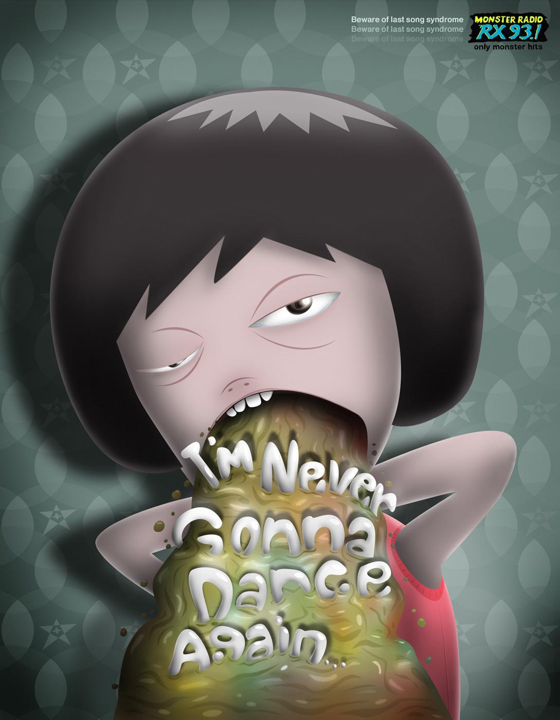 Monster Radio RX 93.1 Print Ad -  Dance