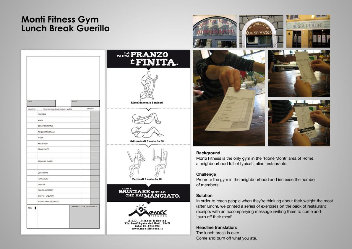 Monti Fitness Direct Ad -  Lunch break