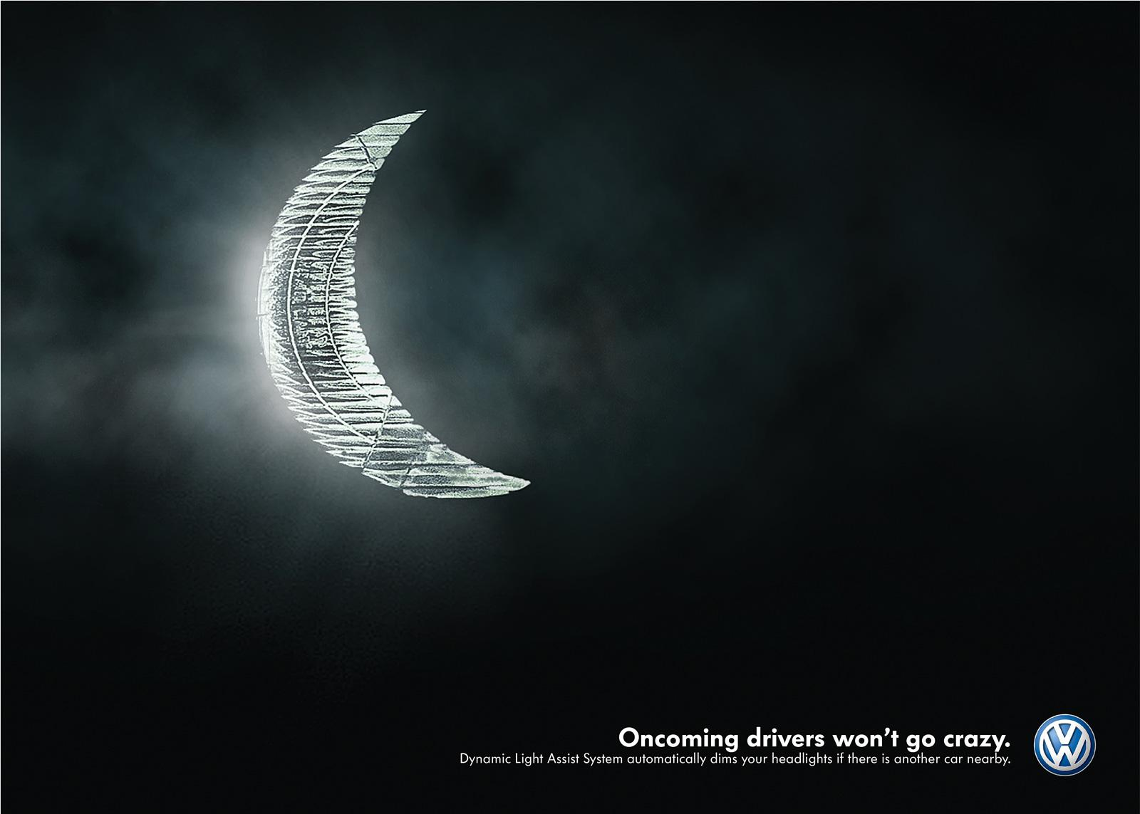 Volkswagen Print Ad -  The Moon