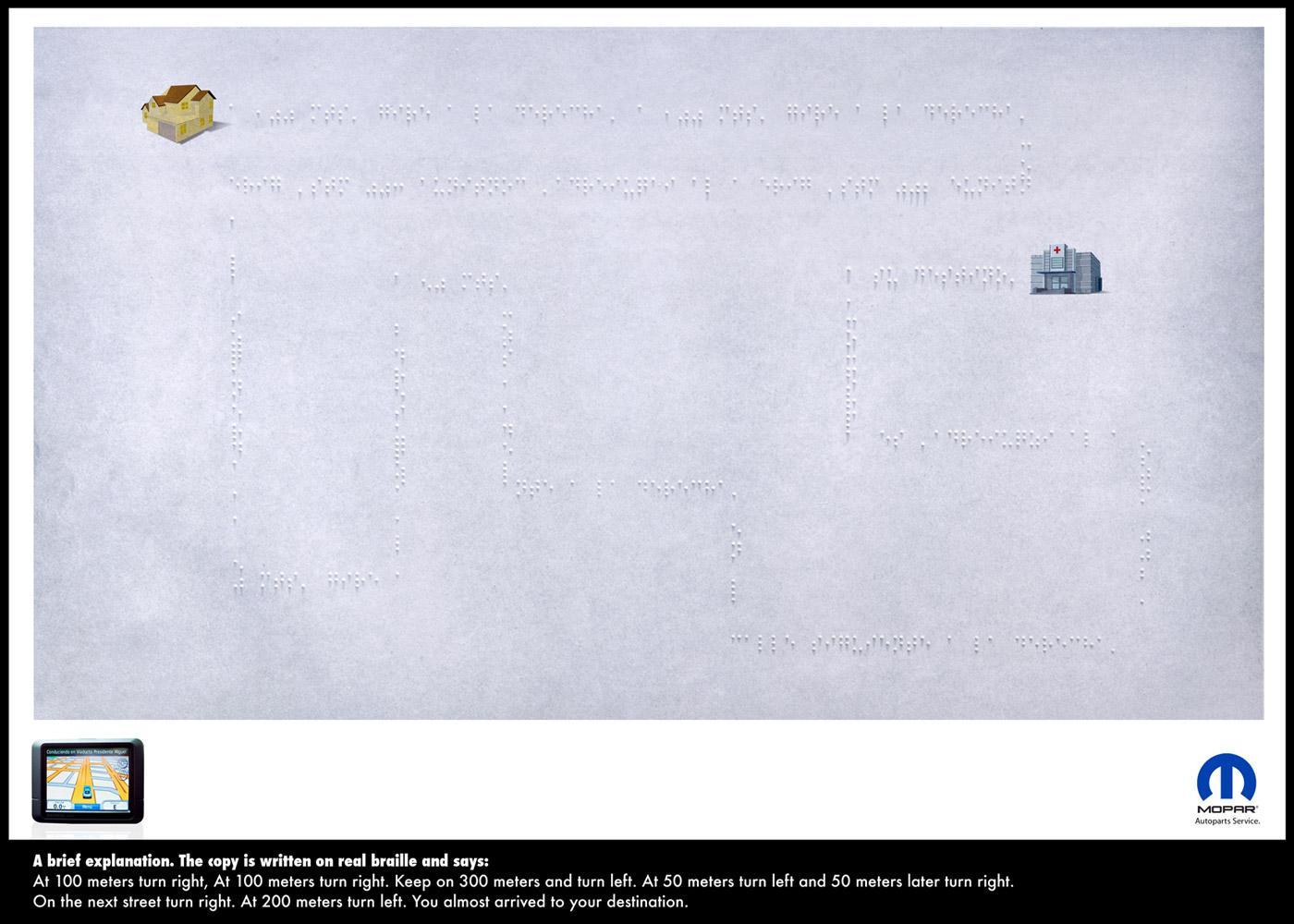 Mopar Print Ad -  Braille