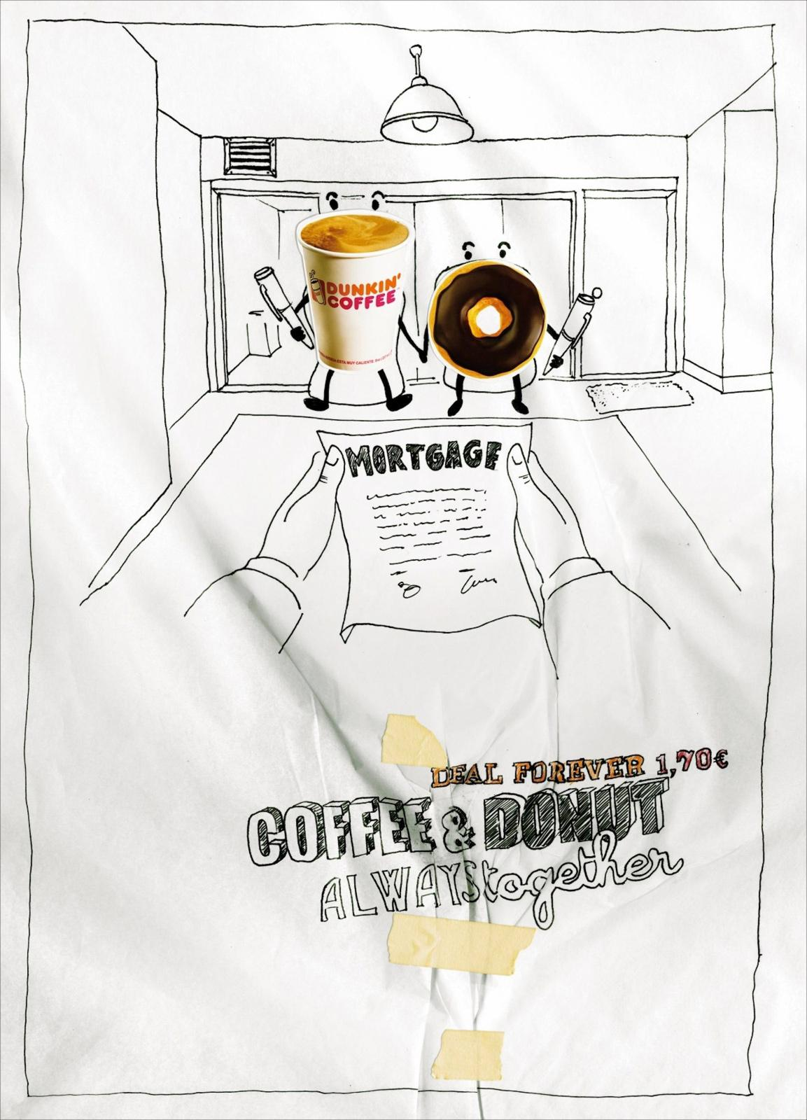Dunkin' Donuts Print Ad -  Mortgage