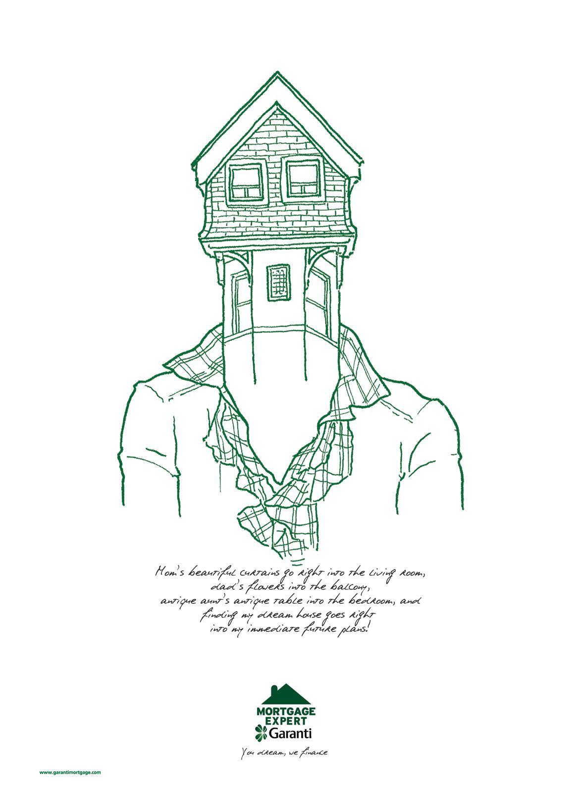 Garanti Print Ad -  House Heads, 1